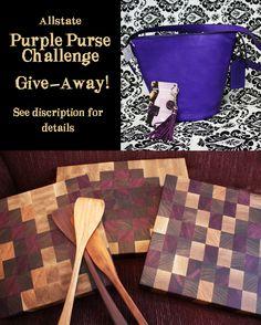 Safe Harbor, Purple Purse, Butcher Blocks, Fundraisers, Domestic Violence, Coach Bags, September, Challenge, Healing