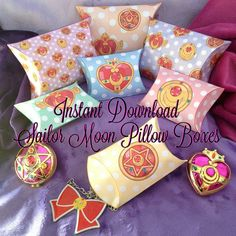 Sailor Moon Inspired Pillow Boxes  Instant by MissFrightsDelights