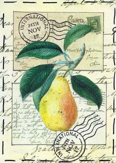 Pear - traded by PaperScraps, via Flickr