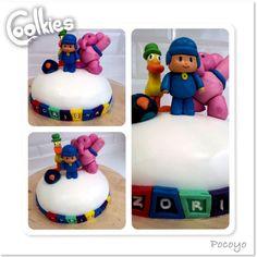 Pocoyó y sus amigos en una deliciosa tarta