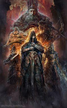 Artorias,Artorias The Abysswalker,DS персонажи,Dark Souls,фэндомы,PabloFernandezArtwrk,Dragon slayer Ornstein,Lord's Blade Ciaran,Executioner Smough,Lord of Cinder Gwyn,Hawkeye Gough