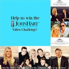 Team House is in a video challenge at the John Hart Real Estate office and we could use YOUR help to win! All you have to do is click through the original post then like, comment and share... or you could be a SUPER HERO and do all three! 🍸 The best news is WHEN we win, you win... Which means, you'll be invited to our celebration party!