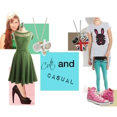 Cute and Casual, created by plutogirlgenius on Polyvore