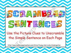 Scrambled Sentences for Promethean Board from KellyYoung on TeachersNotebook.com (26 pages)  - These scrambled sentences can be used in a whole group setting with the students taking turns manipulating the words into the correct boxes.    After we have done several of these together, I begin to have my students write the sentences correctly in thei