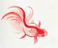 Goldfish Watercolour Print. £5.00, via Etsy.