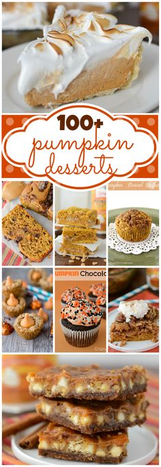 Over 100 Pumpkin Desserts at crazyforcrust.com