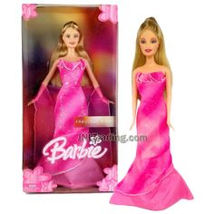 Year 1998 Barbie Fabulous Night Series 12 Inch Doll - BARBIE in Pink E – JNL Trading Diy Barbie Clothes, Barbie Stuff, Pink Evening Gowns, Strapless Dress Formal, Formal Dresses, Barbie Collection, Shawl, Aurora Sleeping Beauty, Dolls