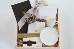 """""""Regal Correspondence"""" curated gift box from @theroyalbox + @designsgirl"""