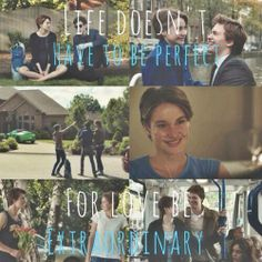 Life doesn't have to be perfect, for love be extraordinary. #The Fault In Our Stars #movie #book #novel
