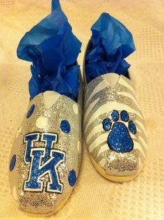 Silver sparkly & blue University of Kentucky by Shoebeedoobeedoo