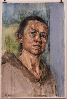 Sky Arts Portrait Artist of the Year: Aine Divine, Dublin Heat Winner Watercolor Portraits, Painting Portraits, Watercolor Ideas, Art Articles, Sky Art, Figure Painting, Beautiful Paintings, Figurative Art, Artist At Work