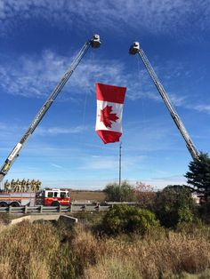 Highway of Heroes Oct 24, 2014 as the body of Corporal Nathan Cirillo passes on his way home to Hamilton for his service on Oct 28th. He was gunned down at the Tomb of the Unknown Soldier in Ottawa as he stood on guard.