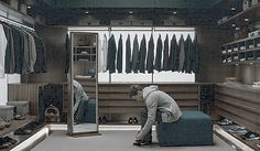 Jamie Dornan Fifty shades of grey movie Christian's closet