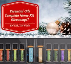 Complete essential oil home kit giveaway.