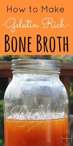 How to make bone broth.  Bone broth is jam-packed with nutrients that promote internal, dental, hair and skin health.