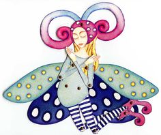 Paper doll: fairy moth by mirkadolls, via Flickr