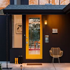 Painting : Mid Century Modern Home Exterior Paint Colors Front Door Baby Traditional Compact Concrete Architects Plumbing Contractors mid century modern home exterior paint colors ~ Ahhualongganggou Midcentury Modern Front Door, Modern Door, Modern Exterior, Mid-century Modern, Modern Entryway, Exterior Door Hardware, Exterior Doors, Exterior Paint, Tile House Numbers