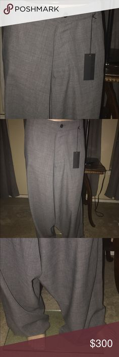 Men's pants Men's mid  grey long dropped trousers in excellent condition Alexandre Plokhov Pants