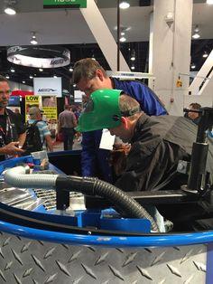 Repair equipment on display at the SEMA Show in Las Vegas, 2016. #CarOLiner2016 #semashow #sema2016 #collisionrepair #sema #Vegas #collision