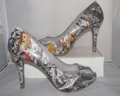 Alice in Wonderland Heels featuring Original di custombykylee, $70.00