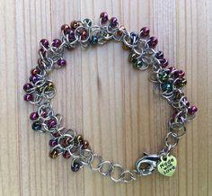 Beaded Chainmaille Bracelet, Shaggy bracelet, Glass beads, Beaded Bracelet, Seed Beads Gift For Her by MadeByKFRod on Etsy https://www.etsy.com/listing/518054944/beaded-chainmaille-bracelet-shaggy