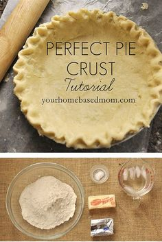 Perfect Pie Crust.  Great recipe!  I've been using the same recipe for years but this one is better.  The idea of rolling the crust in between wax paper worked very well and made clean up so easy!  Crust was very yummy too!  Just a note on the recipe, make sure the shortning and butter are cold...it doesn't stay that in the recipe.  I highly recommend this recipe!
