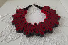 Felt Necklace Boho Jewelry Bib Eco Recycled Free by FELTandGEM, $25.00