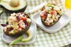 Avocadosalat mit Shrimps und Limettenöl-Dressing