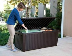 RTN Keter Sumatra Waterproof Rattan Plastic Garden Storage Deck Box XL 511Ltr · $52.00