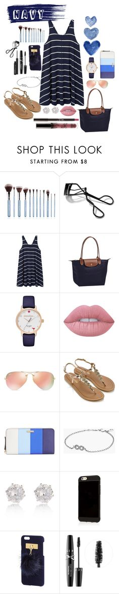 """NaVy"" by cutiegal10 ❤ liked on Polyvore featuring beauty, Bobbi Brown Cosmetics, MANGO, Longchamp, Kate Spade, Lime Crime, Ray-Ban, Accessorize, Pandora and River Island"
