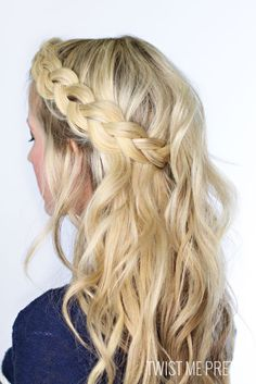 Our favorite beauty tutorials. We love this Soft Dutch Braid from Twist Me Pretty!