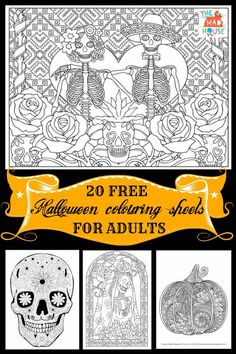 20 Halloween Coloring Pages For Adults Celebrate And Day Of The Dead With This