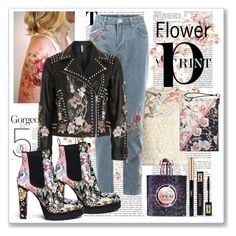 """Covered in Flowers"" by sjk921 ❤ liked on Polyvore featuring RED Valentino, Topshop, Alexander McQueen, White House Black Market and Yves Saint Laurent"