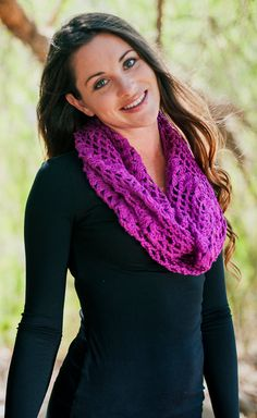 CROCHETED SCARVES, Magenta Scarf, Unique Handmade Scarf,  Hand Crochet 100% Cotton Scarf for women, Dark Pink scarf
