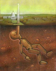sereal art | surrealism painting politics america pinnochio art « « Mayhem & Muse