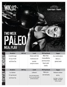Paleo Meal Plan Week 2