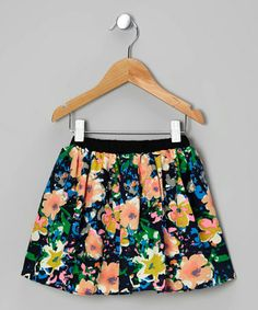 Take a look at this Black & Orange Floral Skirt - Toddler & Girls by Funkyberry on #zulily today!
