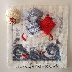 Vi presento oggi il mio primo   WIP,   (Work-in-progress)   da uno schema della   bravissima cross stitch designer   Faby Reilly .       ...