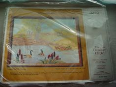 Vtg Geese Pond Painted Embroidery Kit Bob Fleming Crewel Creative Circle NEW #CreativeCircle Seller florasgarden on ebay