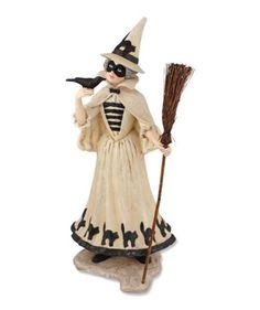 The Good Witch Vintage Halloween by Bethany Lowe bethany lowe halloween Vintage Halloween Decorations, Halloween Party Decor, Halloween Themes, Halloween Trick Or Treat, Scary Halloween, Fall Halloween, Halloween Stuff, Black White Halloween, Country Halloween