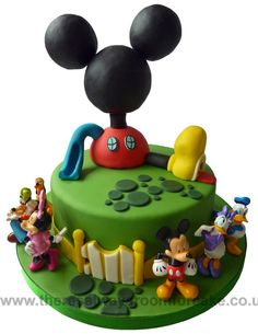 Children's Cakes - There's Always Room For Cake Bolo Do Mickey Mouse, Mickey Mouse House, Mickey And Minnie Cake, Mickey Mouse Clubhouse Birthday Party, Mickey Cakes, Minnie Mouse Cake, Mickey Mouse Parties, Mickey Party, Mickey Mouse And Friends