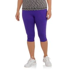 Plus Size Danskin Now Women's Plus Compression Capri, Size: 4XL, Blue