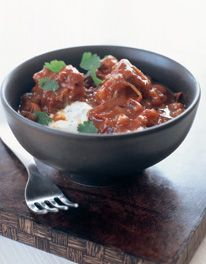 """Mexican spicy lamb from Mary Berry: """"low heat"""" means put in simmering oven."""