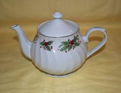Truly Tasteful TM Teapot  Holiday Poinsettia Design by JnAChic, $25.00