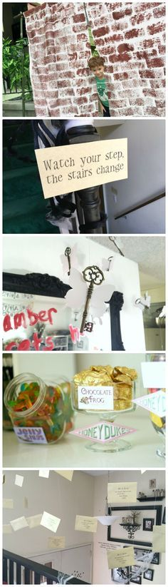 Ideas for Harry Potter Party Decorations from flying keys, house banners, devils snare, the three broomsticks. So many easy and fun ideas to make the perfect Harry Potter party a party to remember.