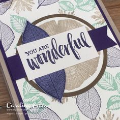 Carolina Evans - Stampin' Up! Demonstrator, Melbourne Australia: Crazy Crafters Blog Hop with Special Guest Rachel Tessman - Rooted In Nature Z Fold