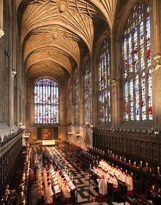 ...The Service of Lessons and Carols is broadcasted live every Christmas Eve from the King's College Chapel in Cambridge, England.