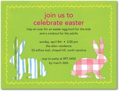 Two sided easter invitation too cute hoppin down the bunny two sided easter invitation too cute hoppin down the bunny trail pinterest easter invitations easter and easter party stopboris Image collections
