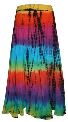 Long tye dye skirt