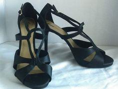 Fioni Night Strapy Black Open Toe High Heel Size 13 #Fioni #Strappy